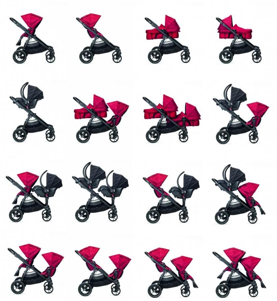 Baby Jogger City Select verschiedene Zusammensetzungen