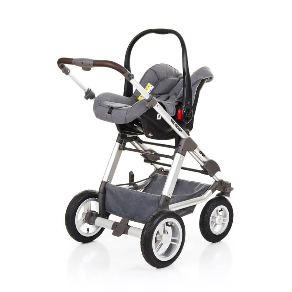 abc design kombikinderwagen mit babyschale