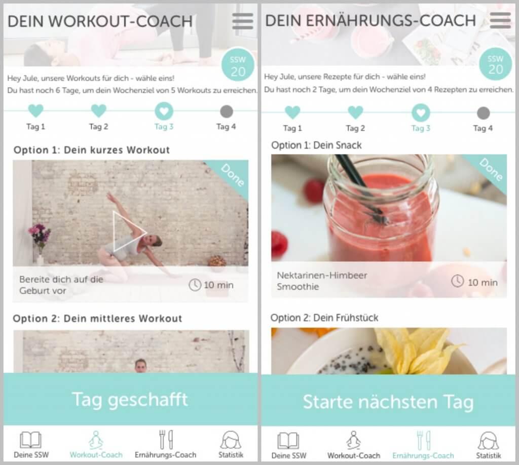 Ernährung und Bewegung in der Keleya App