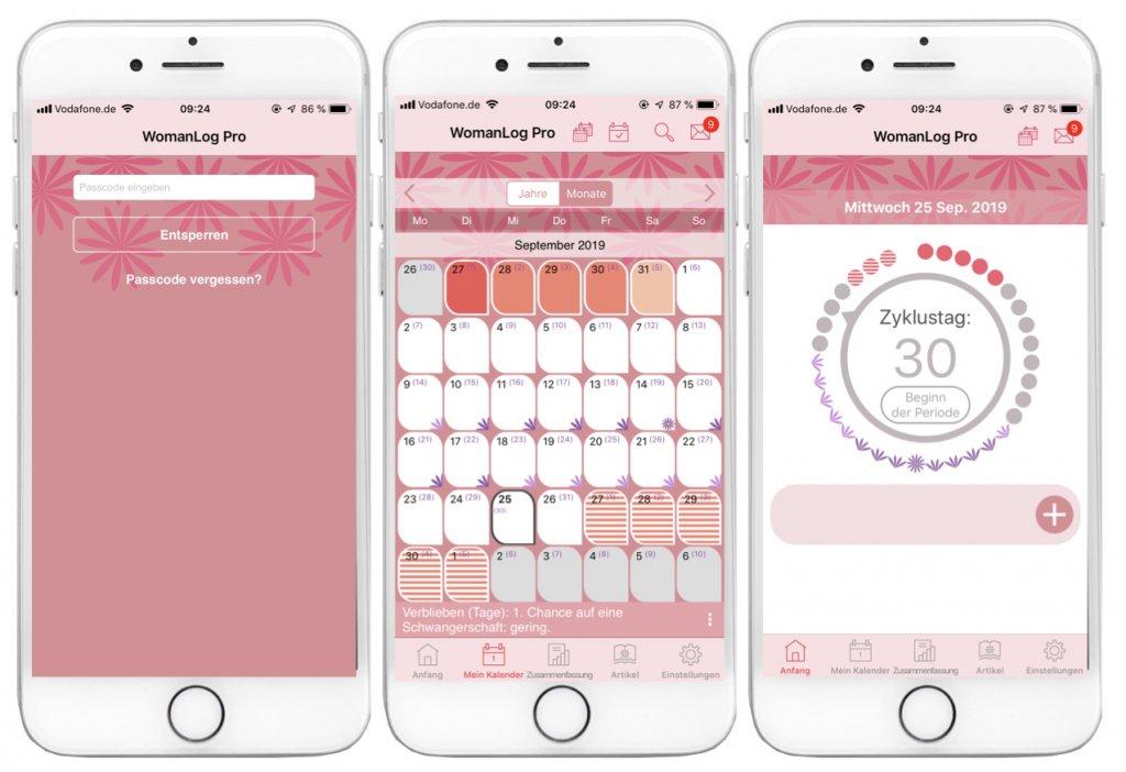 Schwangerschafts Apps - WomanLog Pro