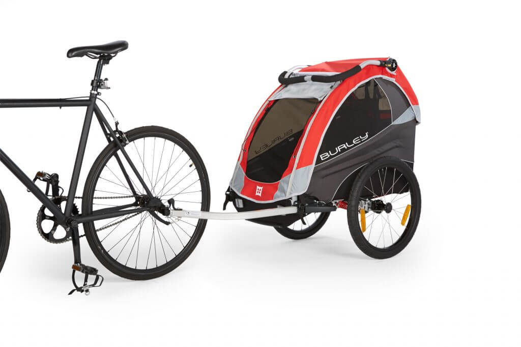 Burley Solo mit Fahrrad