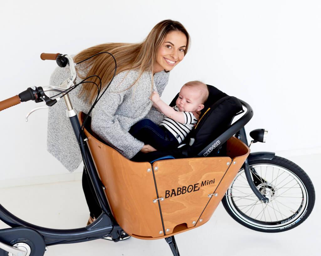 Babboe Mini mit Babyschale