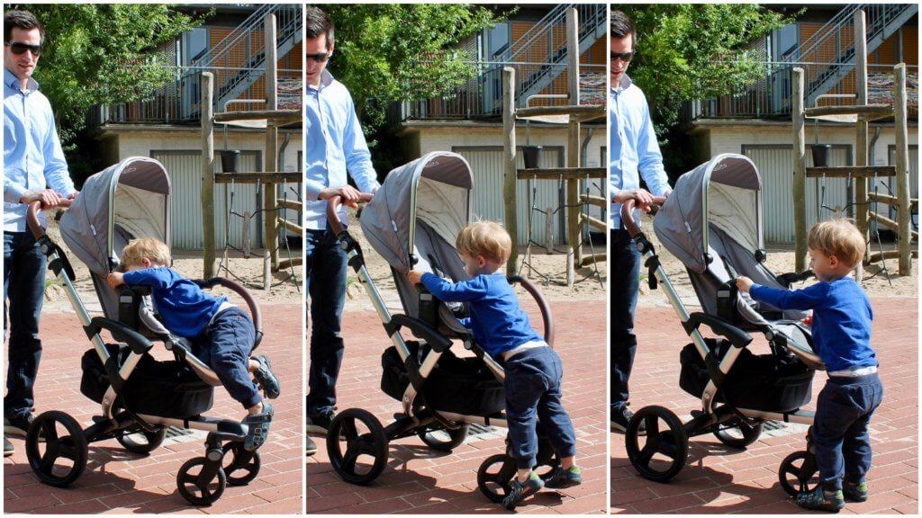 Bonavi Kinderwagen aussteigen