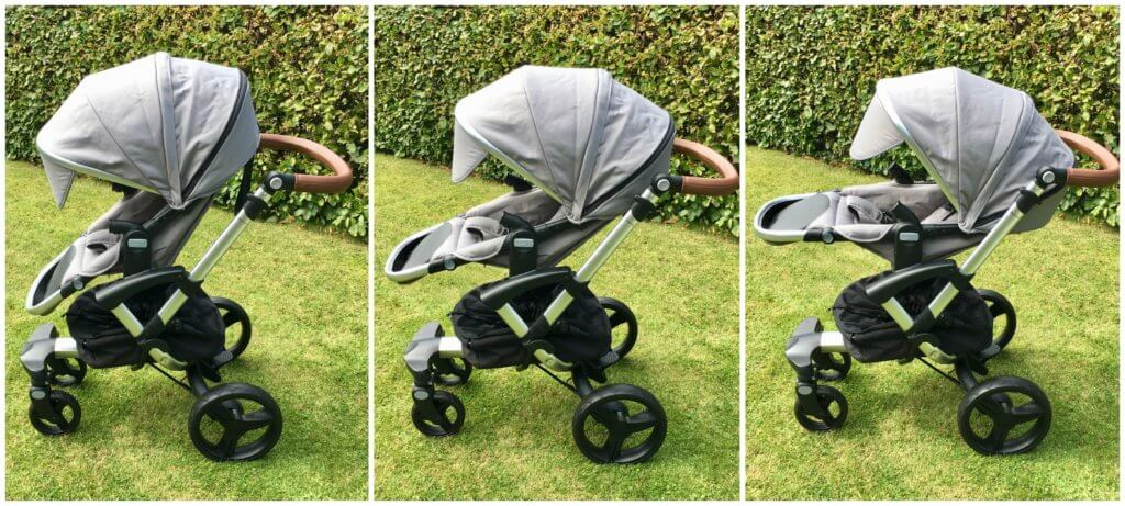 Bonavi Kinderwagen Sitzpositionen