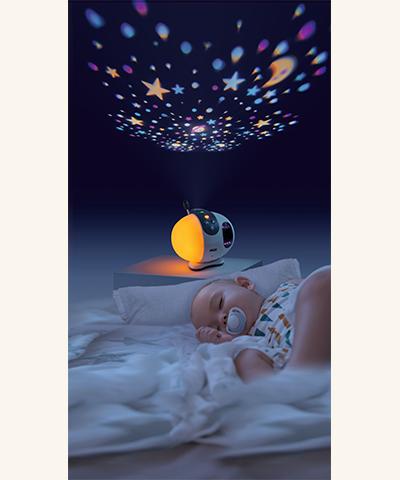 NUK Eco Control+ Video Max 410 Babyphone Sternenhimmel-Projektor
