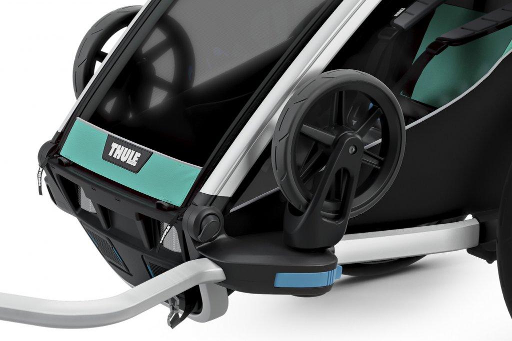 Thule Chariot Lite 1 Räder hochgeklappt