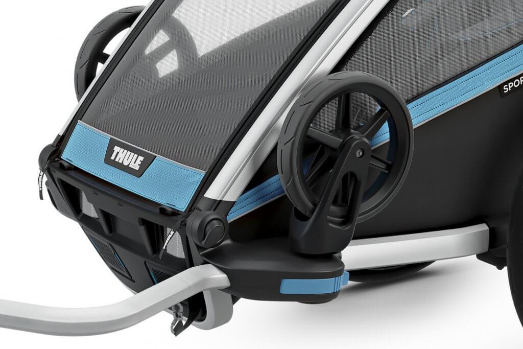 Thule Chariot Sport 1 Räder aufgeklappt