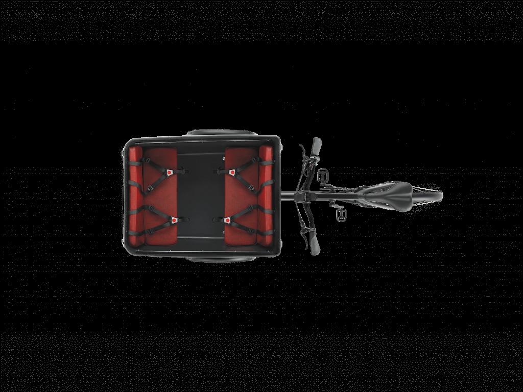 Triobike Boxter Mid Drive Transportbox von oben