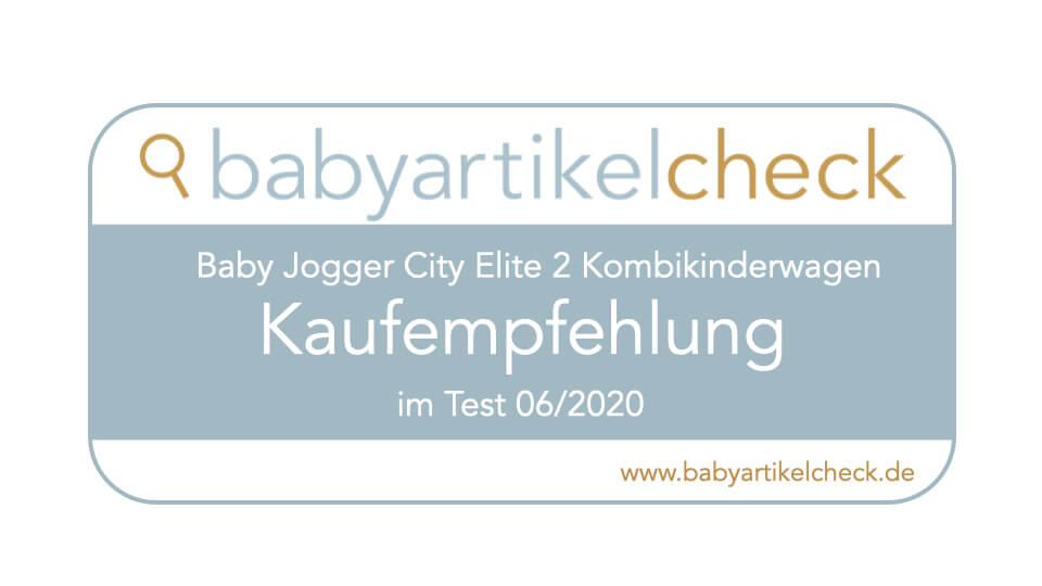 Siegel Baby jogger City Elite 2 Testbericht